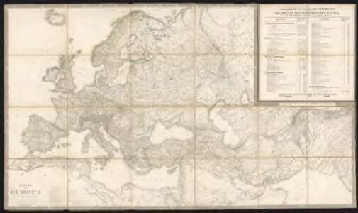 Karte von Europa in IV Blättern