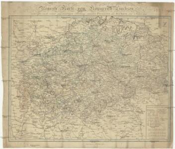 Neueste Charte vom Königreich Sachsen