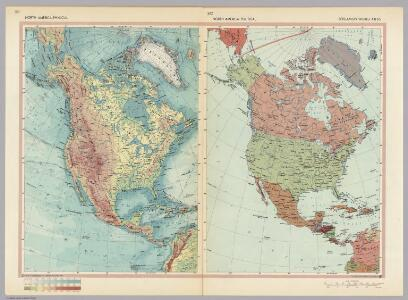 North America - Physical - Political.  Pergamon World Atlas.