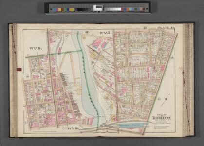 Rochester, Double Page Plate No. 14 [Map bounded by Lowell St., N. Clinton St., Central Ave., Jones St., Vincent Pl.] / compiled from official records, private plans & actual surveys under the direction of E. Robinson.