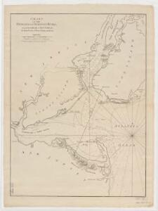 Chart of the entrance of Hudson's River, from Sandy Hook to New York : with the banks, depths of water, sailing-marks, & ca