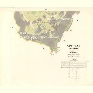 Sponau (Spalow) - m2820-1-010 - Kaiserpflichtexemplar der Landkarten des stabilen Katasters