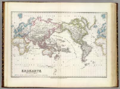 Erdkarte, Mercators Proj.