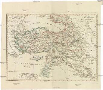 Charte vom OSMANNISCHEN REICHE in ASIEN