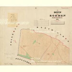 Dinin - c1639-1-005 - Kaiserpflichtexemplar der Landkarten des stabilen Katasters
