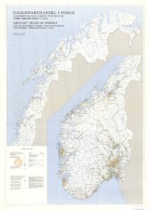 Spesielle kart 164: Dagligvarehandel i Norge.