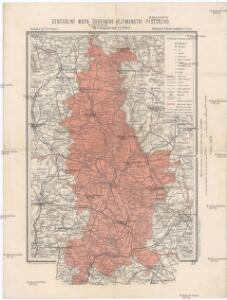 Generální mapa okresního hejtmanství Píseckého