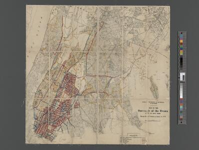 Map of the Borough of the Bronx, City of New York, showing street pavements on January 1st, 1913.