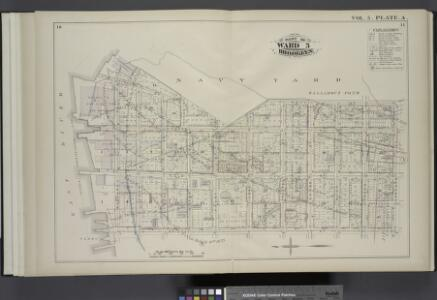 Vol. 5. Plate, A. [Map bound by U.S. Navy Yard, Concord St., Bridge St., East River; Including Little St., Navy St., Old Bridge RD, Hudson St., Greene Lane, Gold St., Charles St., Duffield St., U.S. St., Marshall St., John St., PLymouth St., Evans St., W