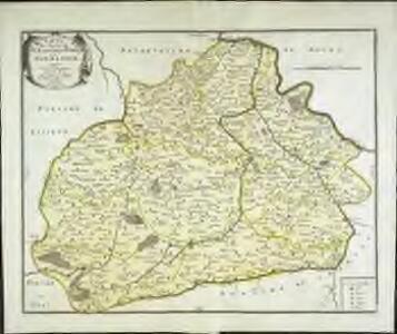 Carte du diocese de l'evesché d'Eureux en Normandie