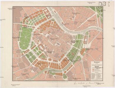Project für die Umstaltung der k. k. Residenzstadt Wien nach Abtragung der Wälle