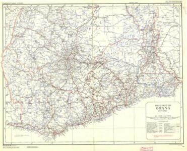 Ghana Road Map (South) 1957