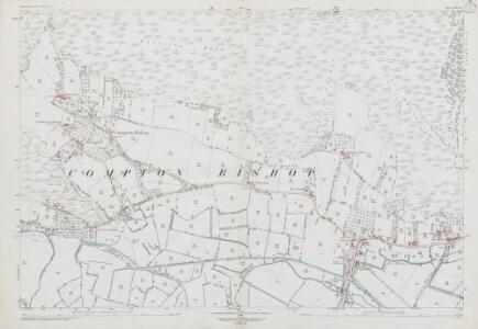 Somerset XVII.15 (includes: Badgworth; Compton Bishop; Weare; Winscombe) - 25 Inch Map