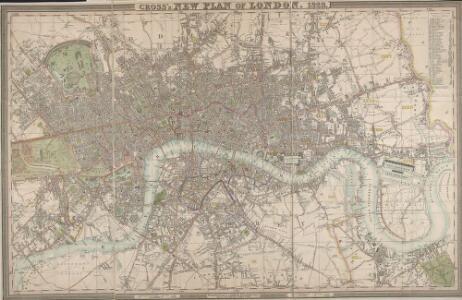 CROSS'S NEW PLAN OF LONDON 1828