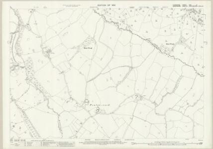 Flintshire XXV.5 (includes: Ellesmere Rural; Overton) - 25 Inch Map