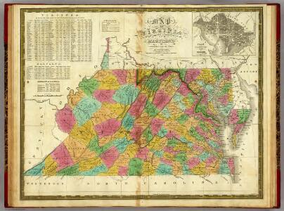 Map of Virginia and Maryland.