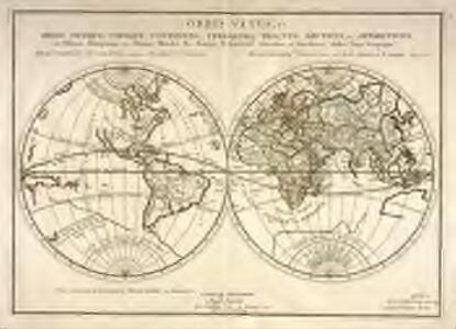 Orbis vetus, et orbis veteris utraque continens, terrarumq[ue] tractus arcticus, et antarcticus