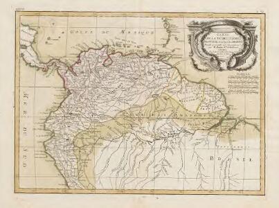 Carte de la terre Ferme de la Guyane et du pays des Amazones.
