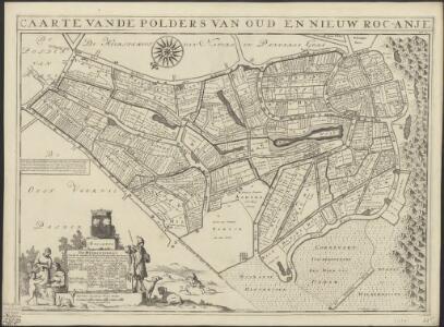 Caarte vande polders van Oud en Nieuw Roc-anje