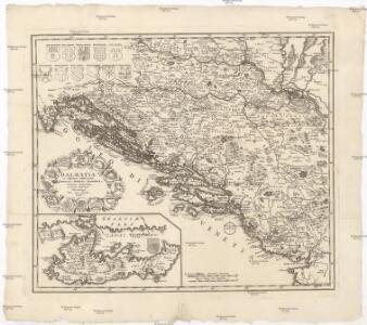 Dalmatia et regiones adjacentes, Croatia, Bosnia, Slavonia, Servia, Albania, accurate descriptae