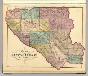 Santa Clara Co. index map.