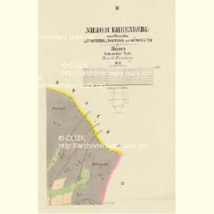 Nieder Ehrenberg - c1317-2-003 - Kaiserpflichtexemplar der Landkarten des stabilen Katasters