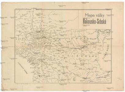 Mapa války rakousko-srbské