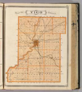 Map of Vigo County.