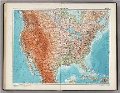 194-195.  United States of America.  The World Atlas.