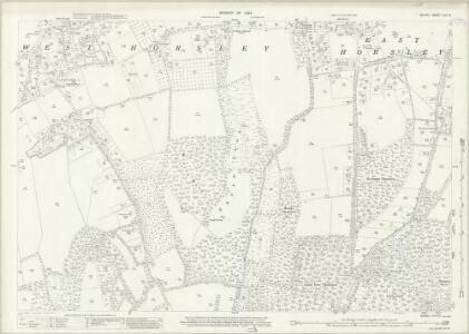 Surrey XXIV.12 (includes: East Horsley; West Horsley) - 25 Inch Map