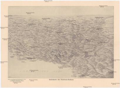 Reliefkarte des Nordwest-Balkans