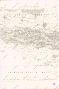 Topographische - Carte des Rheinstromes und seiner beiderseitigen Ufer von Hüningen bis Lauterburg...