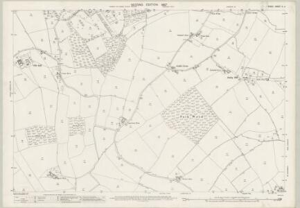 Essex (1st Ed/Rev 1862-96) X.4 (includes: Birdbrook; Stambourne; Steeple Bumpstead) - 25 Inch Map