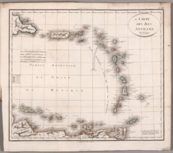 Carte des iles Antilles. Par J.B. Poirson . Nivose An XI, 1803