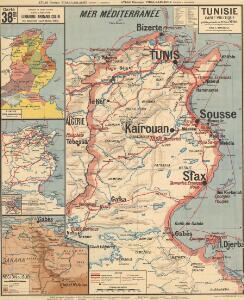 Tunisie carte politique