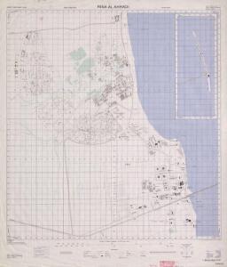 Plans of towns in Kuwait. GSGS 4879, (1958) Ahmadi Mina-al