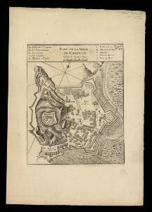 Plan de la ville de Cayenne