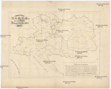Uibersichts-Karte der oesterreichischen Rübenzucker-Fabriken