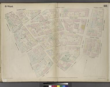 Plate 10: Map bounded by Nassau Street, Roosevelt Street, Oak Street, Oak Street, Pearl Street, Frankfort Street, Cliff Street, Ferry Street, Spruce Street
