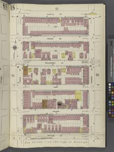 Brooklyn V. 3, Plate No. 65 [Map bounded by Myrtle Ave., Sumner Ave., De Kalb Ave., Throop Ave.]