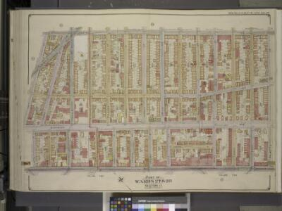 Brooklyn, Vol. 3, Double Page Plate No. 27; Part of   Wards 27 & 28, Section 11; [Map bounded by Central Ave., Palmetto St.; Including Broadway, Lawton St., Hart St.]
