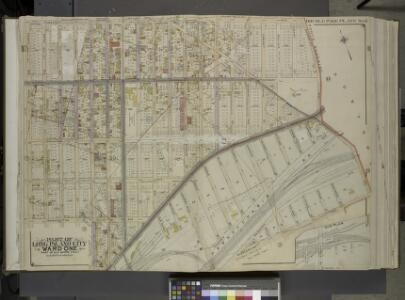 Queens, Vol. 2, Double Page Plate No. 6; Part of Long Island City Ward One (Part of Wards 2 and 4); [Map bounded by Jamaica Ave.,      North Wood Side, Middleburg Ave., Laurel Hill Ave., Madden St., Van Buren St.,   Lowery St., Bragaw St.; Including H