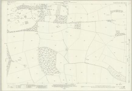 Gloucestershire XXVIII.13 (includes: Haselton; Shipton; Turkdean) - 25 Inch Map