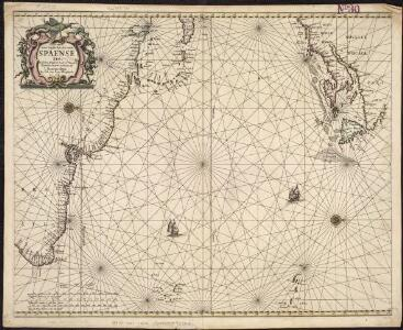 Pascaerte van 't westelyckste deel vande Spaense Zee, tuschen Brasil, de zoute en Vlaemse eylanded, en voorwestwart