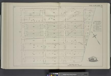 Vol. 4. Plate, Q. [Map bound by Fifty-Second St., City Line, Fourth Ave.; Including Fifty-Third St., Fifty-Fourth St., Fifty-Fifth St., Fifty-Sixth St., Fifty-Seventh St., Fifty-Eighth St., Fifty-Ninth St., Fifth Ave., Sixth Ave., Seventh Ave.]
