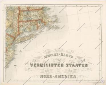 Special -Karte der Vereinigten Staaten von Nord - America No 8.