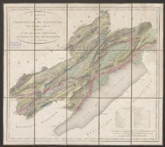 Carte de la principauté de Neuchâtel