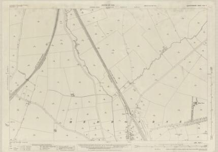 Leicestershire XLVI.7 (includes: Blaston; Hallaton; Medbourne; Slawston) - 25 Inch Map