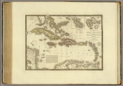 Iles Antilles ou des Indes Occidentales.