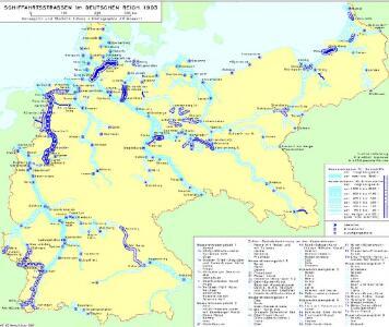 Schiffahrtsstraßen im Deutschen Reich 1903